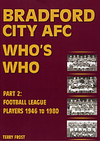 Bradford City AFC Who's Who – Part 2: Football League Players 1946 to 1980