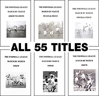 SPECIAL OFFER � ALL 55 BOOKS IN THE FOOTBALL LEAGUE MATCH BY MATCH SERIES